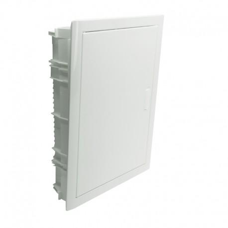 Legrand - Coffret encastré - porte métal extra plate - 2 rangée - 24+4 mod-blanc RAL 9010 - Réf : 001532