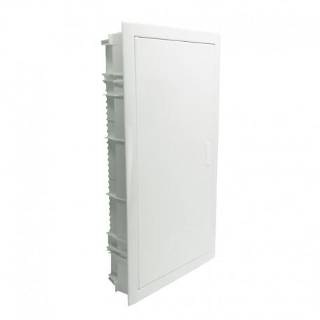 Legrand - Coffret encastré - porte métal extra plate - 3 rangée - 36+6 mod-blanc RAL 9010 - 001533