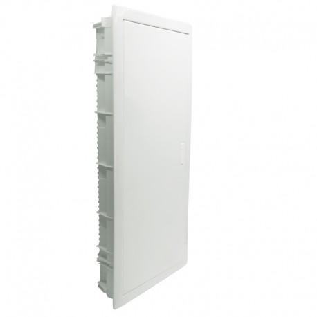 Legrand - Coffret encastré - porte métal extra plate - 4 rangée - 48+8 mod-blanc RAL 9010 - Réf : 001534