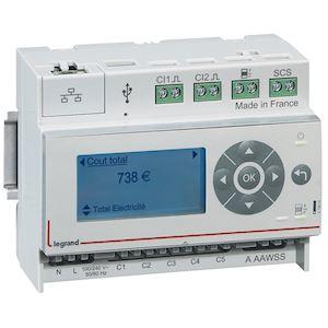 Pack Ecocompteur modulaire IP: écocompteur 412000 et 3 tores fermés 60A 412004