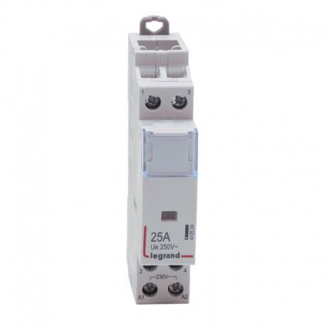 Legrand - Contacteur de puissance bobine 230 V~ - 2P - 250 V~ - 25 A - 2 O - 1 module - Réf : 412524