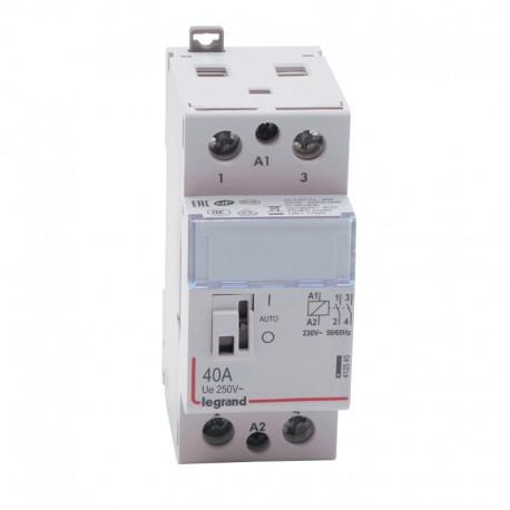 Legrand - Contacteur de puissance CX³ bobine 230V~ - 2P 250V~ - 40A - contact 2F - 2 modules - Réf : 412545