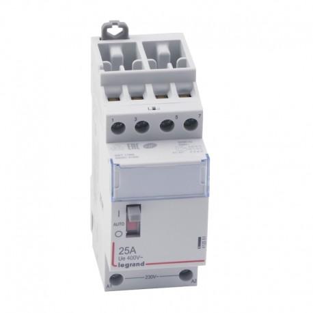 Legrand - Contacteur de puissance bobine 230 V~ - 4P - 250 V~ - 25 A - 4F - 2 modules - Réf : 412551