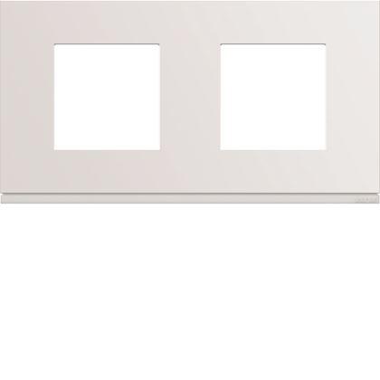 HAGER Plaque gallery plastique injecté 2 postes horizontale 71mm pure WXP0012