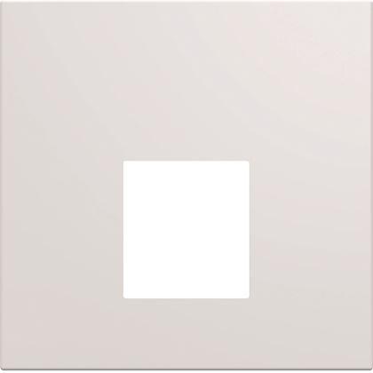 HAGER Enjoliveur prise RJ45 gallery sans porte-étiquette 2 modules pure WXD202B