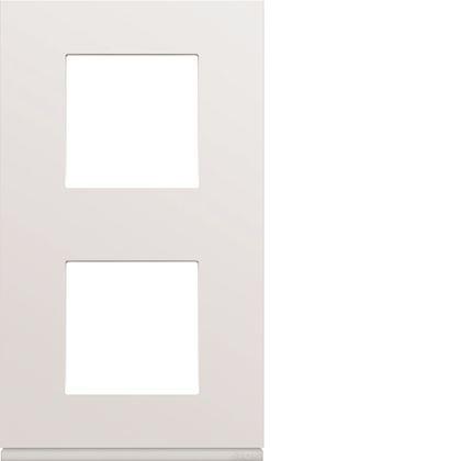 HAGER Plaque gallery plastique injecté 2 postes verticale 71mm pure WXP0042