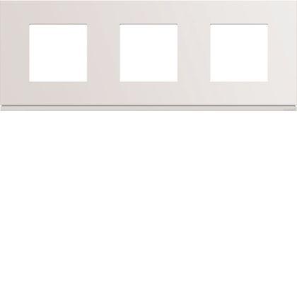 HAGER Plaque gallery plastique injecté 3 postes horizontale 71mm pure WXP0013