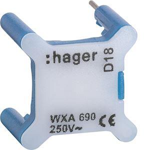 HAGER Voyant pour interrupteur gallery 230V bleu WXA690