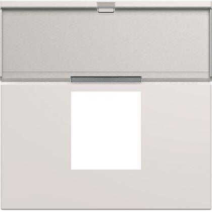 HAGER Enjoliveur prise RJ45 gallery avec porte-étiquette 2 modules pure WXD206B