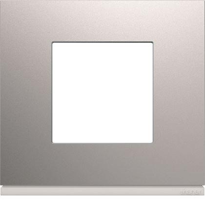 HAGER Plaque gallery plastique peint 1 poste titane WXP0102