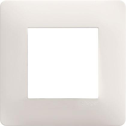 HAGER Essensya Plaque 1 poste Blanc WE401