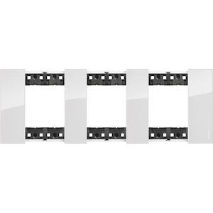 BTICINO Plaque de finition Living Now Collection Les Blancs 3x2 modules finition Glacier BTKA4802M3DW