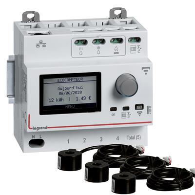 Pack Ecocompteur connecté avec 3 transformateurs de courant fermés 60A