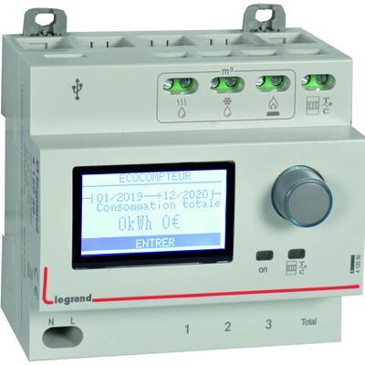 Ecocompteur module pour mesure consommation sur 5 postes 230V~ - 5 modules