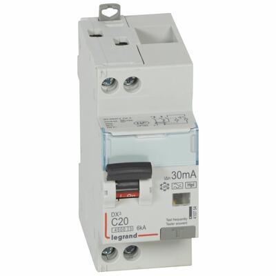 Legrand - 410754 - DX3 1P+NG C20 4,5-6K F 30MA