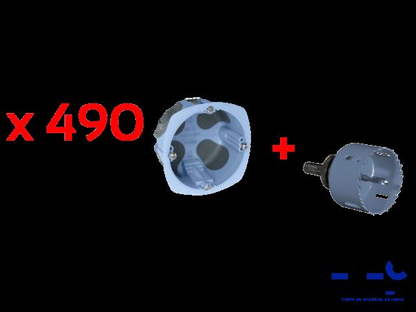 LOT DE 490 BOITES AIR\'METIC EUR\'OHM P40 + SCIE CLOCHE - 52098