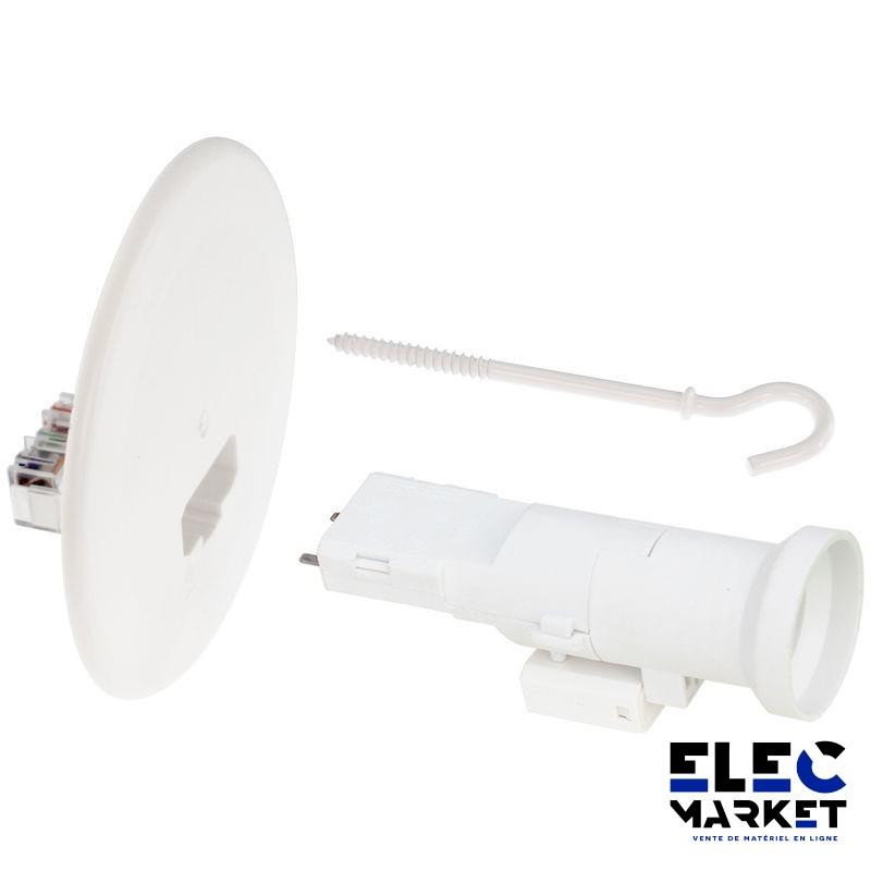 EUR\'OHM kit couvercle DCL 120 + piton 100 + douille E27 - 53052