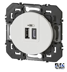 LEGRAND DOUBLE CHARGEUR TYPE A / TYPE C DOOXIE - 600349