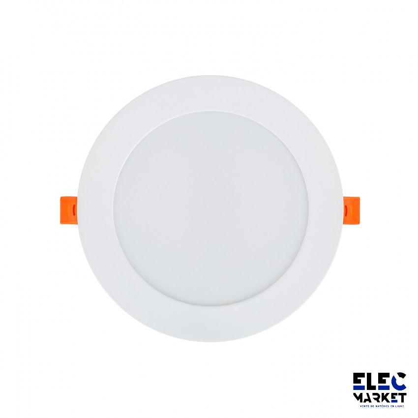 DALLE LED RONDE SLIM 12W BLANC