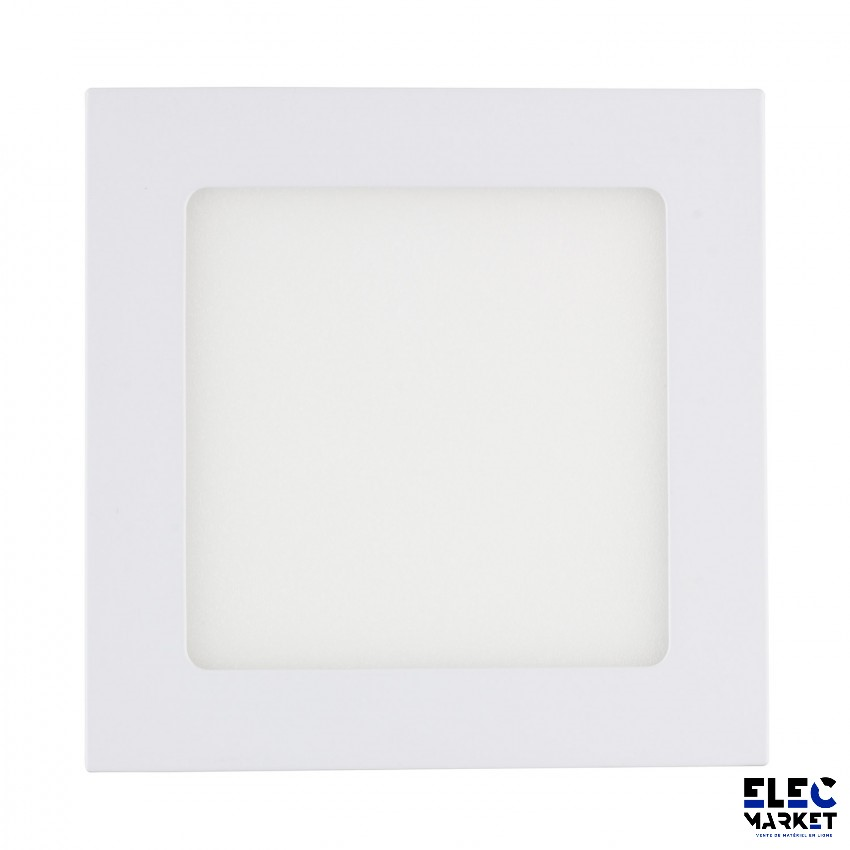 DALLE LED CARRÉE EXTRA-PLATE 9W