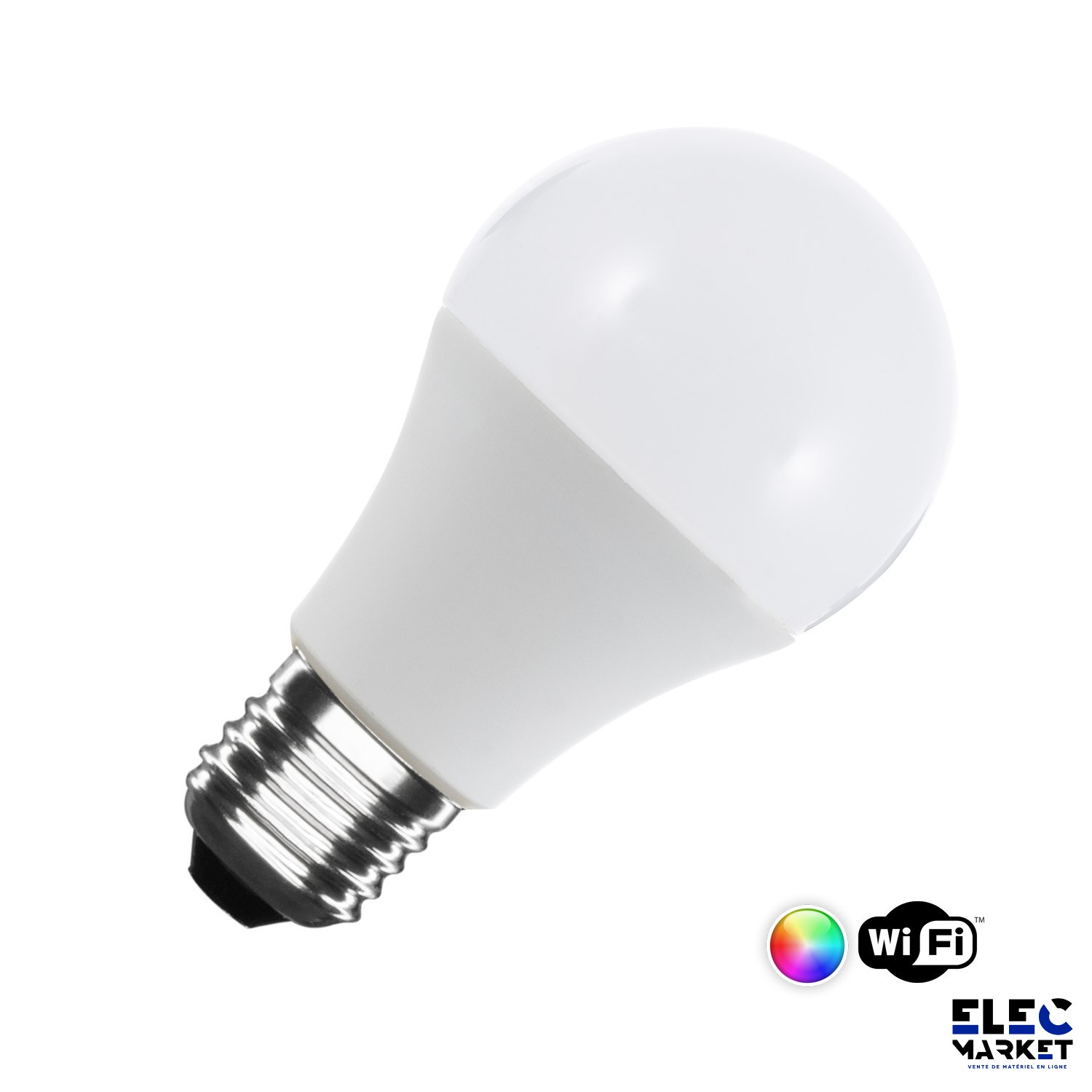 AMPOULE LED SMART WIFI E27 A60 DIMMABLE RGBW 10W