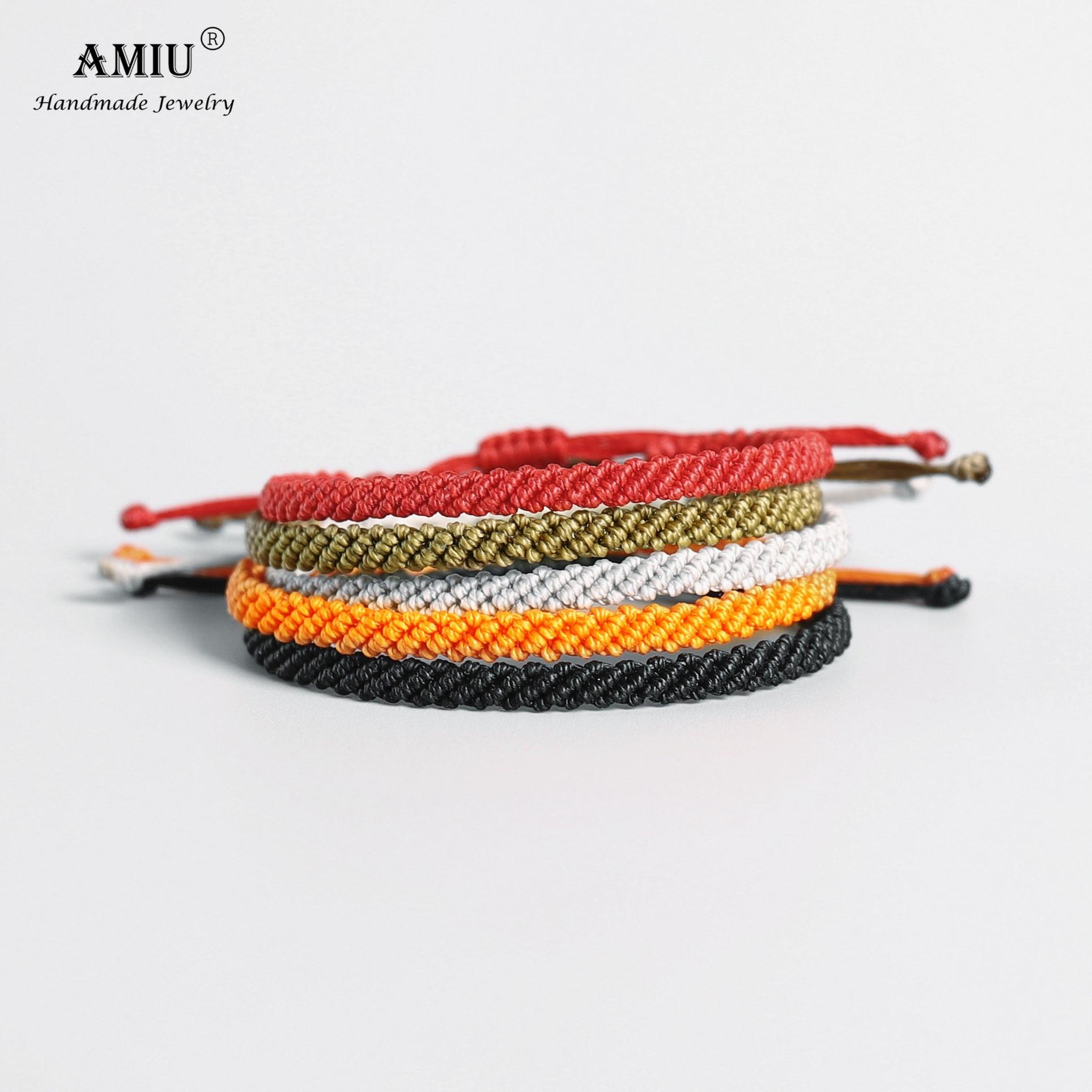 Bracelet mixte en fil de cire