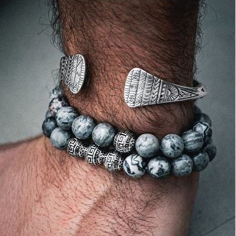 A-Noter-Bracelet-homme-Vintage-boule-bouddha-ethnique-Braslets-vrai-naturel-carte-pierre-volcanique-Brazalete-m