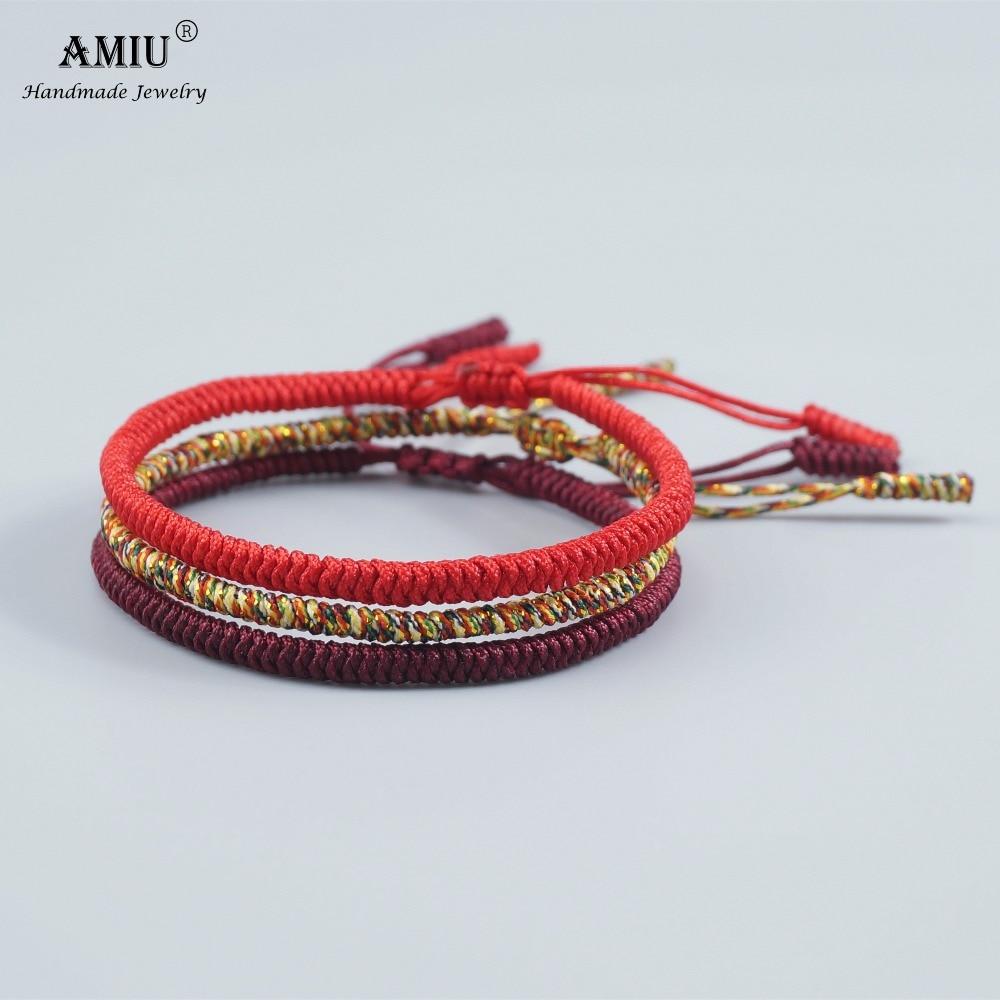 Bracelet bouddhiste porte bonheur triple
