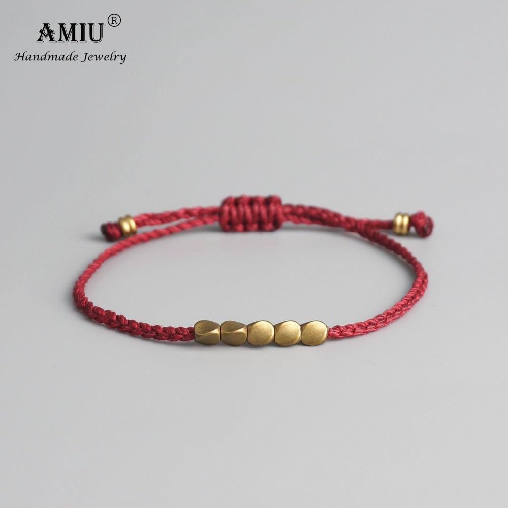Bracelet en perles de cuivre tibétaines fait à la main