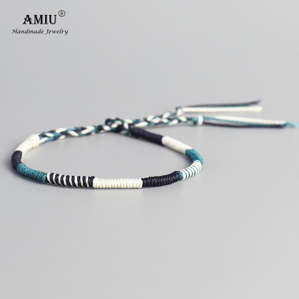 Bracelet mixte tissé en fil de cire