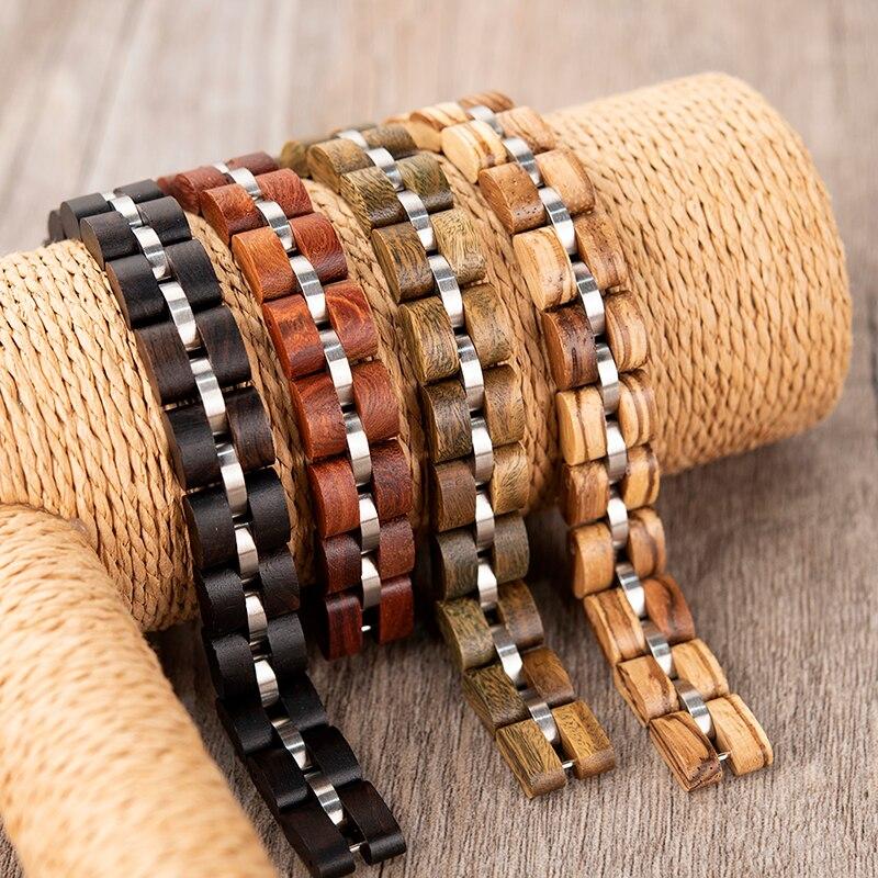 Bracelet bois et acier