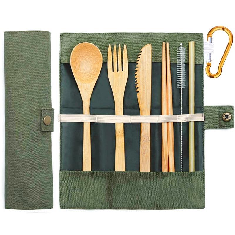 Kit de couverts en bambou 6 pièces