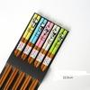 Baguettes-japonaises-en-bois-bambou-naturel-Ensemble-de-5-paires-r-utilisables-faites-la-main-baguettes