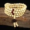 108-perles-8mm-bois-de-santal-naturel-bouddhiste-bouddha-bois-pri-re-perl-e-noeud-noir