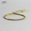 AMIU-fait-la-main-imperm-able-l-eau-tiss-cire-fil-enveloppement-Bracelet-Simple-corde-noeud