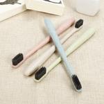 1-pi-ces-Eco-Friendly-bl-paille-poign-e-bambou-charbon-de-bois-brosse-dents-adulte