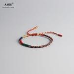 AMIU-tib-tain-bouddhiste-porte-bonheur-tib-tain-Bracelets-Bracelets-pour-femmes-hommes-la-main-noeuds