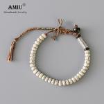 AMIU-tib-tain-bouddhiste-tress-coton-fil-chanceux-noeuds-bracelet-naturel-Bodhi-perles-sculpt-amulette-Bracelet