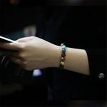 Amoureux-huit-plan-tes-pierre-naturelle-Bracelet-univers-Yoga-Chakra-galaxie-syst-me-solaire-perles-Bracelets
