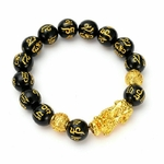 Feng-Shui-obsidienne-pierre-perles-Bracelet-hommes-femmes-unisexe-Bracelet-or-noir-Pixiu-richesse-et-bonne
