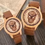 Montre-en-bois-pour-hommes-et-femmes-Imitation-cerf-d-autruche-bo-tier-en-Quartz-bracelet