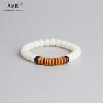AMIU-Bracelet-de-perles-en-coquille-de-coco-blanc-coquille-d-olive-Bodhi-bouddhisme-tib-tain