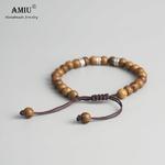 AMIU-tib-tain-bouddhiste-Bracelet-tress-la-main-chanceux-noeuds-bracelet-naturel-6mm-perles-de-bois