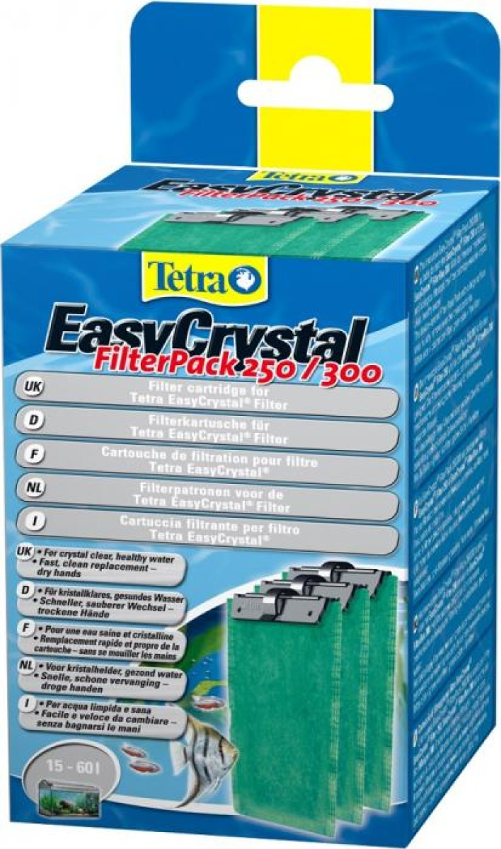 TETRA FilterPack 250/300 lot de 3 cartouches de filtration pour filtre EasyCrystal FilterBox 250 et 300