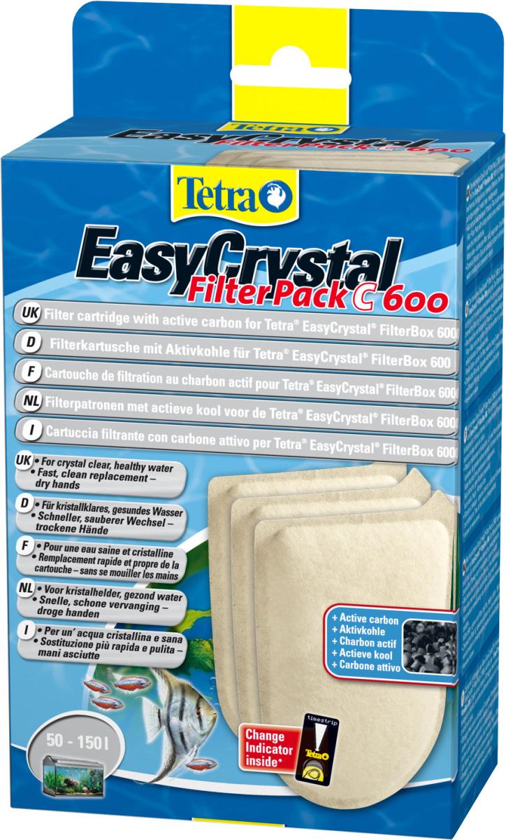 TETRA FilterPack C 600 lot de 3 cartouches au charbon actif pour filtre EasyCrystal FilterBox 600
