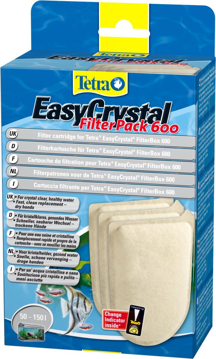 TETRA FilterPack 600 lot de 3 cartouches de filtration pour filtre EasyCrystal FilterBox 600