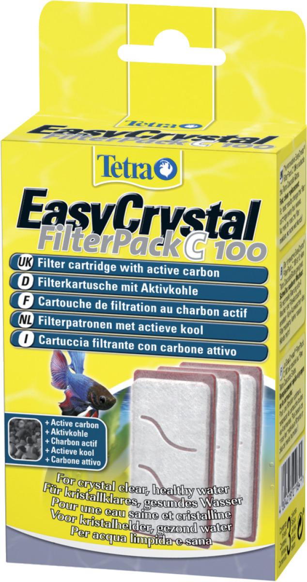 TETRA FilterPack C 100 lot de 3 cartouches au charbon actif pour filtre du TETRA Cascade Globe
