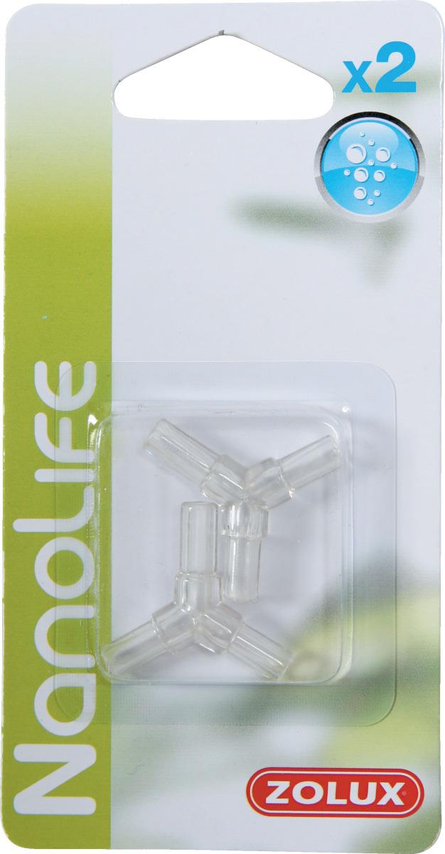 ZOLUX NanoLife Lot de 2 raccords en Y pour tuyau d\'air 4/6 mm