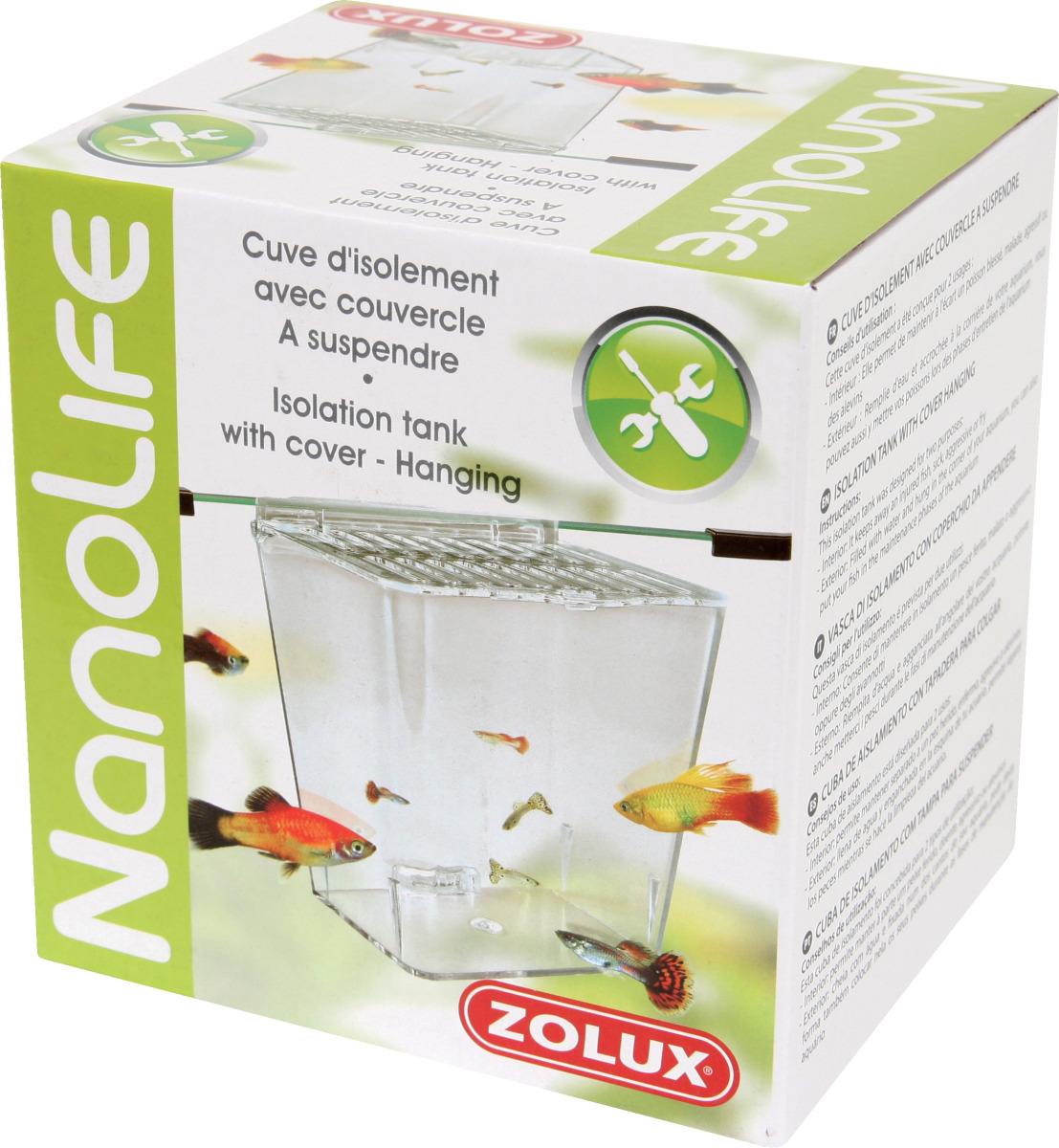 ZOLUX Cuve d\'isolement pour poissons à suspendre sur le bord de l\'aquarium