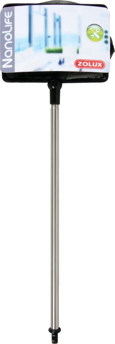 ZOLUX Nanolife Épuisette 10 cm rectangulaire avec manche télescopique en inox